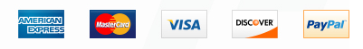 Pay by Visa, masterCard,AmericanExpress,Discover or PayPal