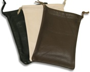 Leather Drawstring Poucnes